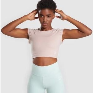 Gymshark Dreamy Crop Top in taupe